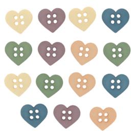 Sew Cute Hearts knoopjes  - 6949