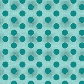 Medium Dots  Dark Teal - 130030