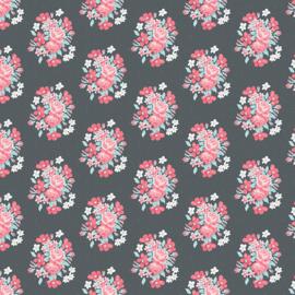 Abbie's Garden Bouquet Charcoal - C9571Charcoal
