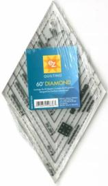 Diamond 60 gr. ruler/liniaal - EZQuilting