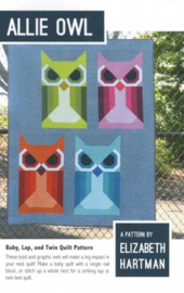 Quiltpatroon by Elizabeth Hartman - Allie Owl