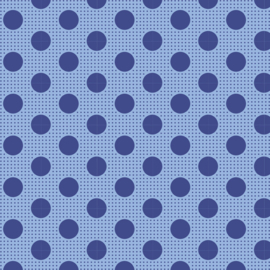 Medium Dots Denim Blue - 130013