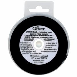 Clover quick bias - zwart 6 mm