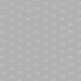 Mod Cat Faces Grey - 52607/2