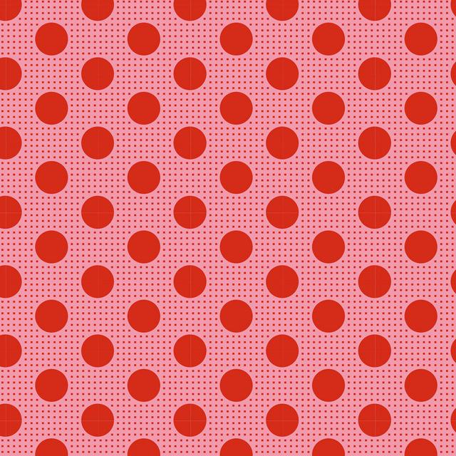 Medium Dots Salmon - 130028