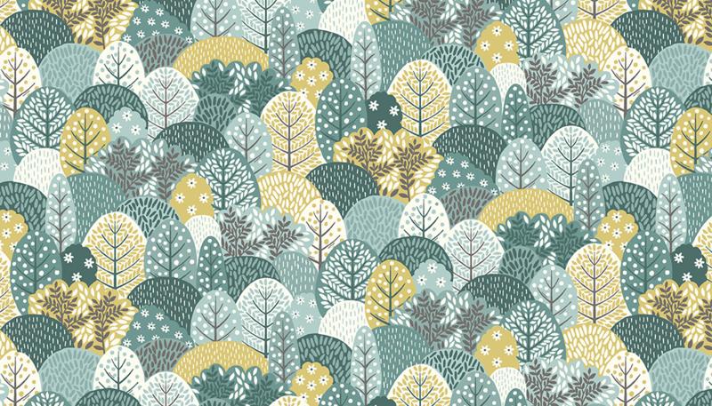 Clara Trees Blue  - 2265B