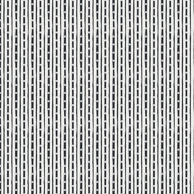 Abbie's Garden Stripe - C9574Black