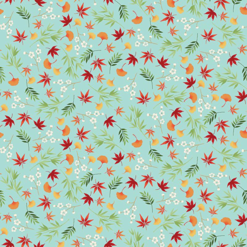 Michiko Foliage Turqoise - 2333/T