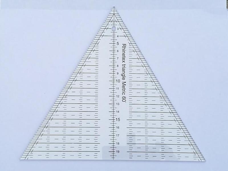 Driehoek liniaal 60 gr