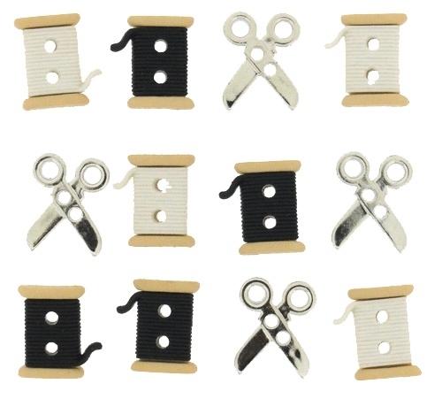 Schaartjes en klosjes knoopjes - 6942