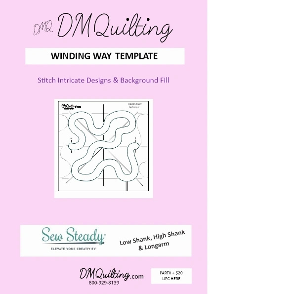 DMQuilting  Template  - Winding Way 5 inch