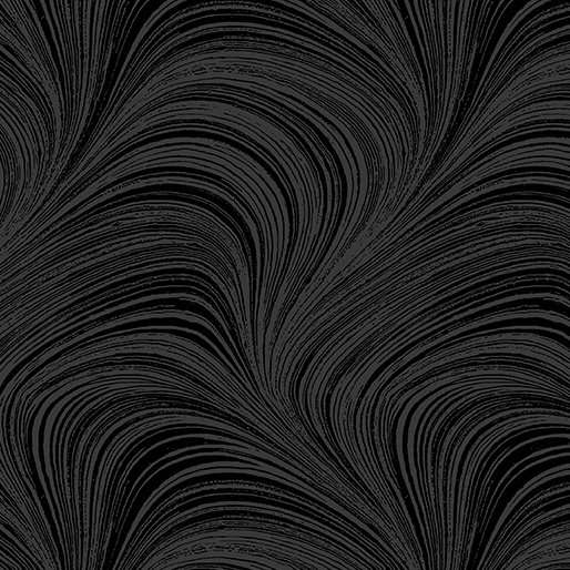 """Wave Texture Black  EXTRA WIDE 108 """" - 2966W/12"""