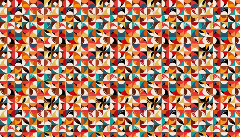 Folk Friends Mosaic Cream - 2301Q