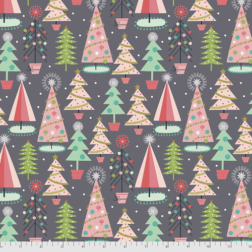 Fa La La Christmas Spruces - 012XGREY