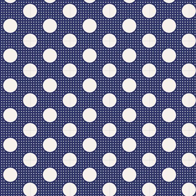 Medium Dots Night Blue - 130026