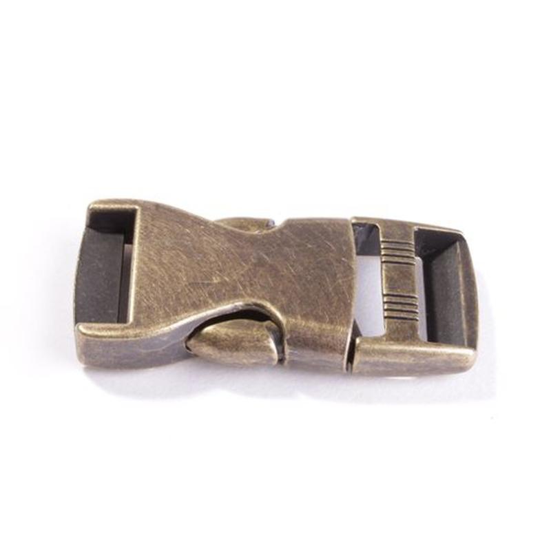 Bronzen klikgesp 25 mm