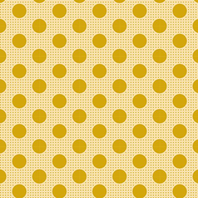 Medium Dots Flaxen Yellow - 13029