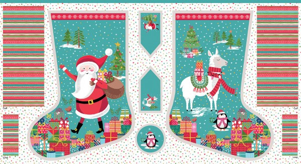 Let it Snow Christmas Stocking Panel  - 2235/1