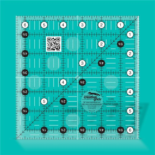 Creative Grids Quilt ruler 6,5 x 6,5 inch  - CGR6