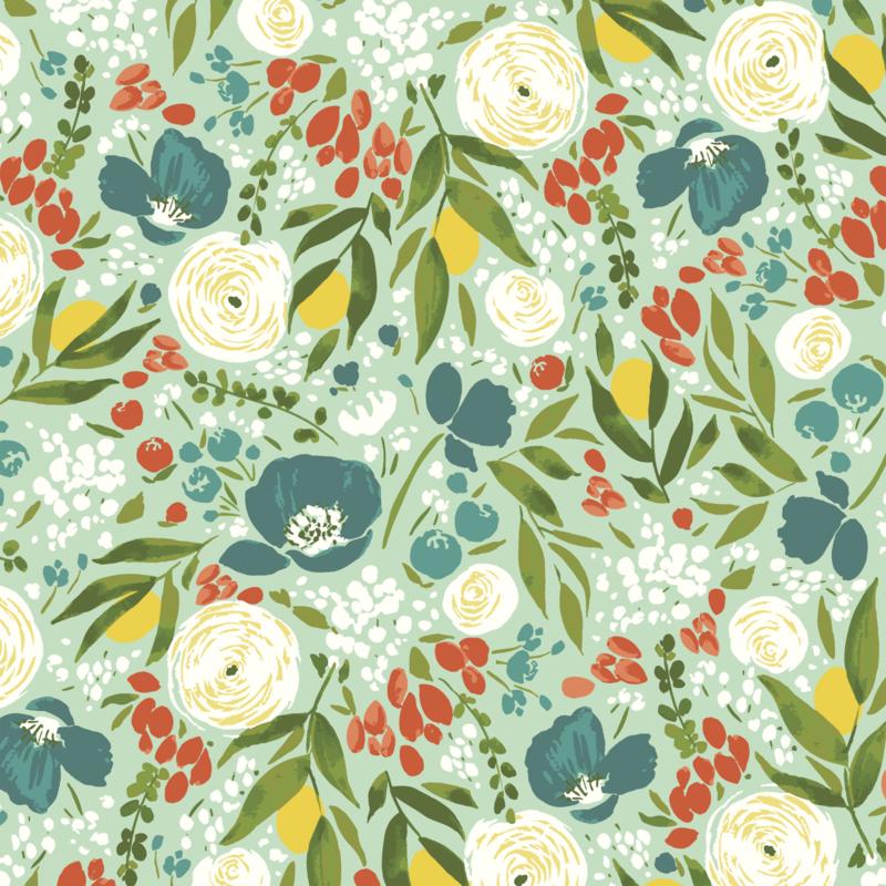 Cora Floral Aqua - 52359/2
