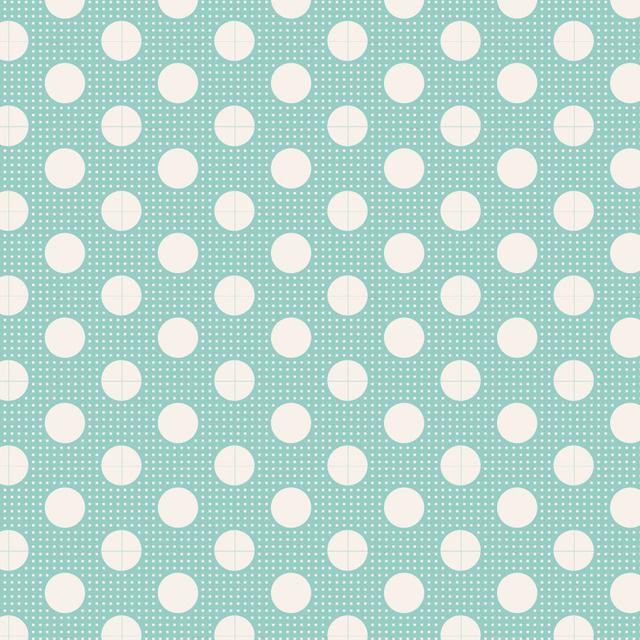 Medium Dots Teal - 130001