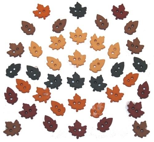Herfst blaadjes knoopjes - 4874
