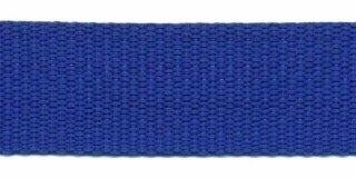 Tassenband 25 mm kobalt blauw