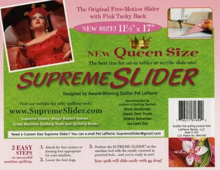 Supreme Slider Queen size - free motion quilt mat