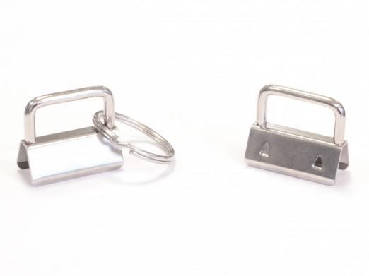 Sleutelhanger met ring - zilver
