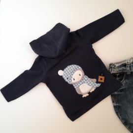 CHIZ-CHIC | Hoodie Winter Pinguïn applicatie