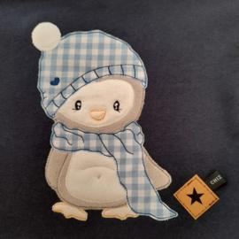 CHIZ-CHIC   Hoodie Winter Pinguïn applicatie