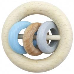 HESS | Rammelaar met 3 ringen van hout