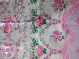 MixMamas aankleedkussen hoes Jardin Roze