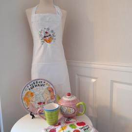 FUNNIES | Keukenschort dames met geborduurde cupcake