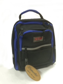 Kinderfietstas blauw zwart
