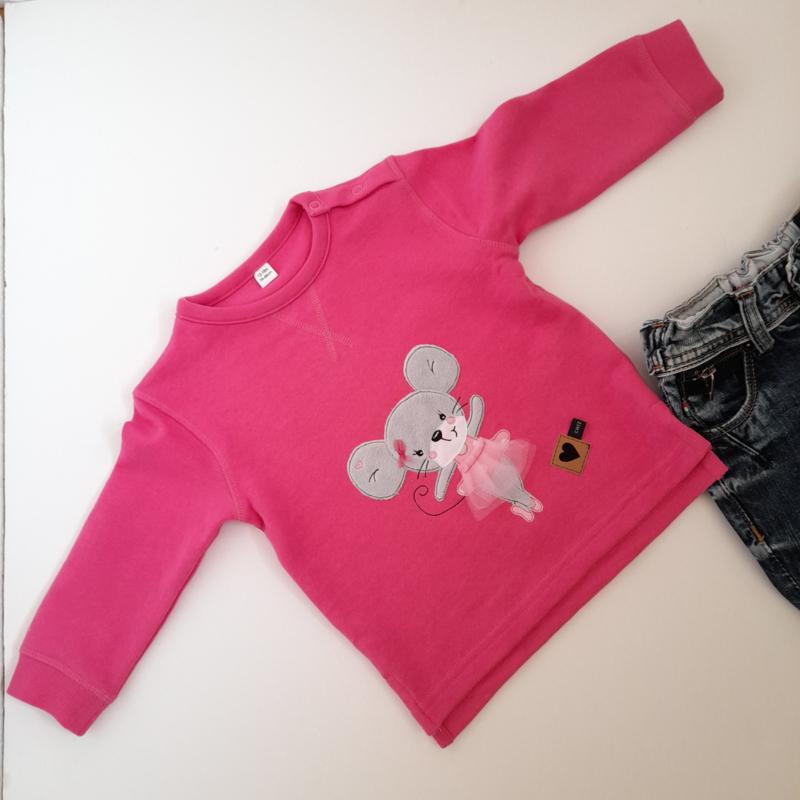 CHIZ-CHIC | Sweater Ballerina Muis applicatie