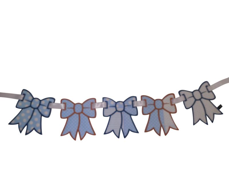 Strikken slinger blauw