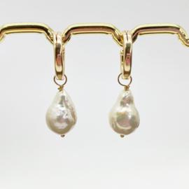 14k gold filled creolen met barok parels
