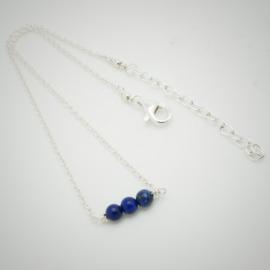 Zilveren enkelbandje met lapis lazuli