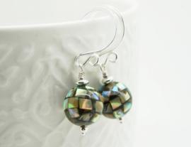 Abalone mozaiek oorbellen