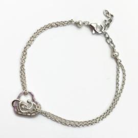 In je hart gesloten, Symbolische armband met hartje en 1 ringetje