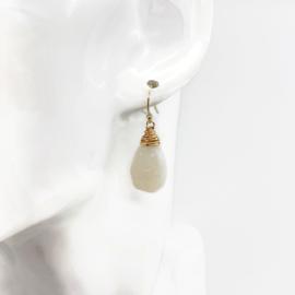 Druzy oorbellen met 14k gold fill