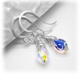 Druppel oorbel met swarovski kristal