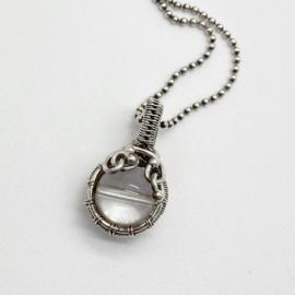 Zilveren Bergkristal hanger