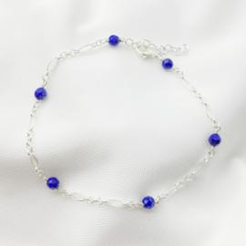 Zilveren armband met Lapis lazuli