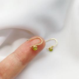 14k gold filled oorbellen met peridoot