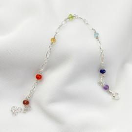 Sterling zilveren regenboog armband