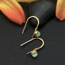 Gold fill oorbelletjes met opaal