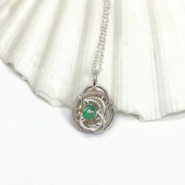 GERESERVEERD - Mei ketting met Smaragd