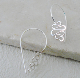 Zilveren Swirl oorbellen
